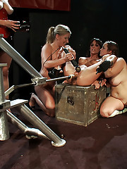 Double updates today: Pussy Battle Royal Finale with 3 hot rookies AND a party featuring Gia DeMarco  who squirts a fire hose of cum at the audience.