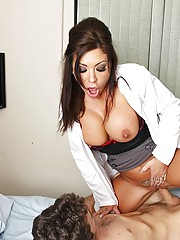 Patient James has been nothing but trouble for nurse Mason. He is constantly hitting on her and grabbing her tits and ass. Just before he is scheduled for release, he devises a plan to that will finally get Mason to fuck him. He unhooks himself from the c