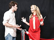 James shows up to a massive, club-style celebrity house party with two beautiful girls. When he tries to get into the club, Carolyn, the guest list girl, only lets the girls in the club. After a couple hours of waiting James sneaks in and finds Carolyn on