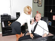 Johnny arrives at the office to begin his training with Briana, his new boss. He quickly discovers that Briana is a domineering blonde bombshell who