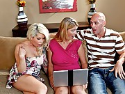 Johnny and his wife, Robbie, have Brooke over to their house for dinner. After supper, Johnny and Robbie show their guest pictures from their recent vacation. They come upon a nude intimate picture and Brooke gets a good look at Johnny