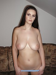 Amateur strips on the couch