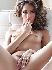 Jenna Haze is fully nude in this outdoor solo set