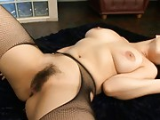 Reiko Nakamori with cum dripping out of her messy vagina