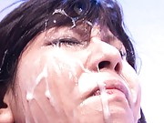 Christel Takizawa messy asian girl covered in sperm from many