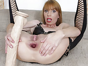 Vanda having hot anal dildo sex