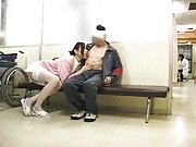 Japanese AV Model teases her patient while in a nurse uniform