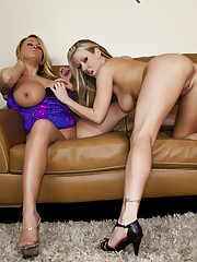 Lesbian sex between Carolyn Reese and Brandy Talore
