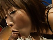 Sayaka Tsuzi has her ass groped as he fucks her from behind