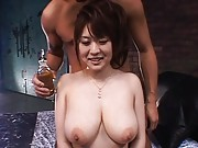 Nana Aoyama shows off her big natural tits in this video