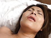 Reona Azabu gets a facial after fucking her horny boyfriend