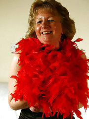 Sue flashes you alot more then her red boa