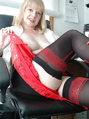 Amanda strips in the office