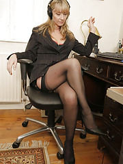 Kim gets naughty at the office
