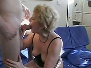 Hot granny sucks and fucks