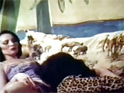 Two retro lesbians enjoy playing with snatch