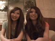 Japanese AV Model and her friend getting undressed take bath