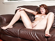Nubile sweetie Lizzie Tucker massages her sensitive clitoris