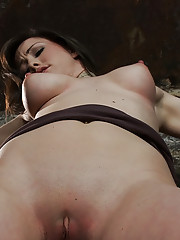 Beautiful girl next door is bound spread and helpless.  Fingered and vibrated to orgasms after orgasms.  Helpless girls are fucking hot!