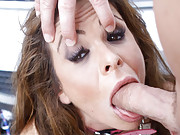 Hot chick squirts all over dude!