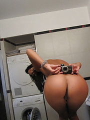 Amazing hot fucking booty short babes strip in these hot fucking bathroom pics