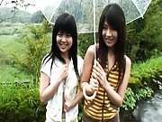 Chiwa Osaki gets naked in public with her cute girlfriend