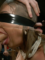 Infamous dominatrix Nika Noire is bound, helpless, and used as a fuck toy for an armory sex party