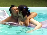 Sexy asian teenage cutie fucking in the pool