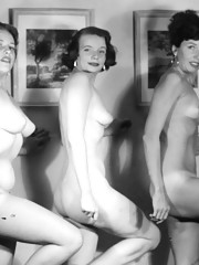 More than one vintage girl posing in fourties