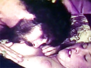 Sexy vintage girl turning him on in seventies