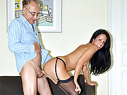Horny old british gentleman fucks a sweetie