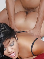 Check out this hot fucking big ass latina get drilled hard  against the bed after getting picked up in a car