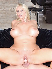 Hot big tits blonde milf gets picked up by 2 guys at the bar then pounded hard in these cock sucking pussy fucking 3some pics