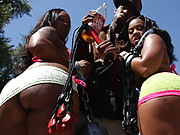 Candy gets her tight black pussy fucked hard from behind!
