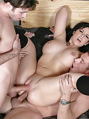 Officer Heart getting her ass ripped by two huge cocks