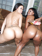 Real ghetto whores with bubble butts making some guys happy