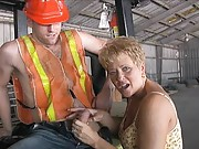 milf gets face blasted and jizzed on