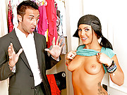 Jackie Daniels loves shopping and fucking huge cock