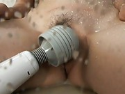 Aya squirting milf pussy after he uses a sex toy on her