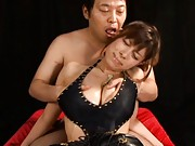 Chloe Fujisaki beautiful breasts groped by a horny lover