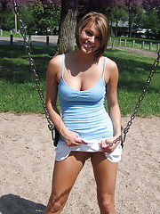 Naked on the playground