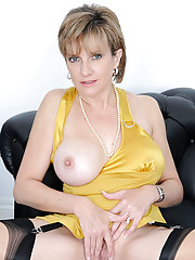 Busty shaved nylons mature hot wife