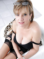 Huge tits english mature nylon babe