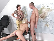 Machine sex from rear with blowjob
