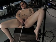 Amateur 18yr old machine fucked fast, hard, cums quickly, intense