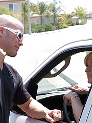 Brittany Blaze just picked up a stranded motorist and brought him back to her place. She�ll have him on his way as soon as she has her way with him�