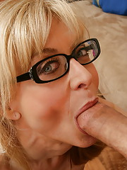 Nina is a nosy neighbor MILF has noticed that Chris hasn�t moved his car for a few days.  She checks up on him and finds that he hurt his knee recently, and is depressed because he can�t skydive.  She decides to cheer him up��with her ass!