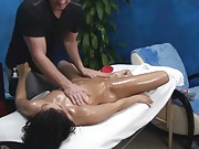 Watch through our hidden camera these sexy 18 year olds get fucked by their massage therapist