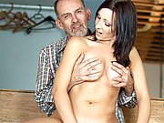 A cute innocent girl nailed by her old boss