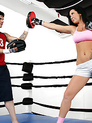 Jayden Jaymes is learning some fighting moves to impress her boyfriend. But Jayden�s trainer is trying to put the moves on her rather than do his job. Jayden doesn�t mind as long as he fucks her better than he trains her!!